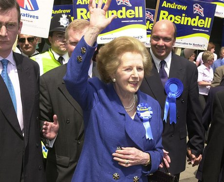Margaret Thatcher on a public visit