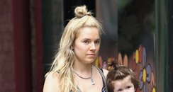 Sienna Miller with Marlowe and no make up