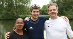 Matt and Michelle with Rower Zac Purchase