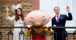 Kate and Wills with Family Guy Stewie