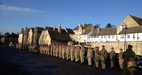RAF Wittering Personnel March Through Stamford
