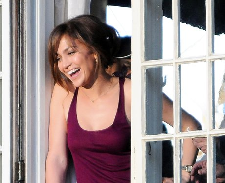 J.Lo is seen on set 'The Boy Next Door'