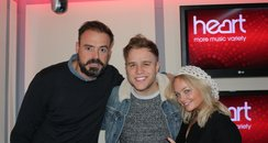 Olly with Jamie and Emma
