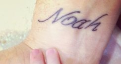 michael buble's tattooed wrist