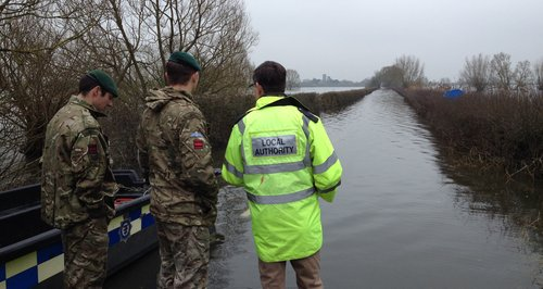 Army see floods in Somerset