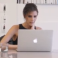 victoria beckham at her desk
