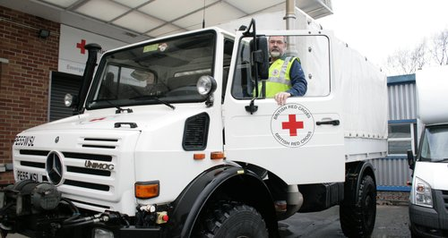Red Cross vehicle for Somerset floods