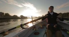 Man in rowing boat