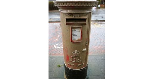 Badly painted postbox