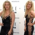 ellie goulding in black star playsuit