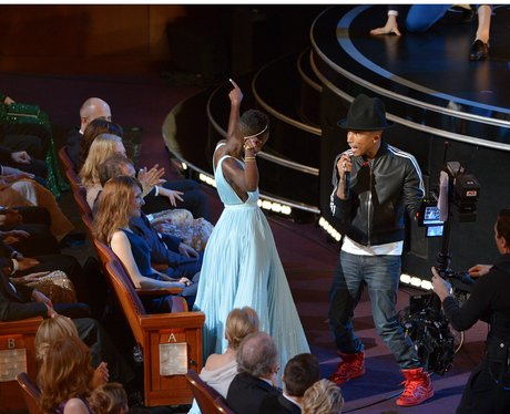 Lupita Nyong'o and Pharrell Williams Oscars 2014