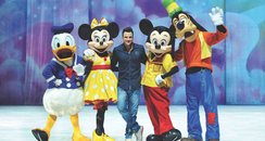 Peter Andre with Disney on Ice characters