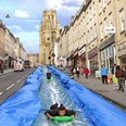 Mock up of a water slide planned for Park Street i