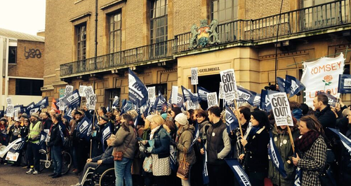 Cambridge Teacher Protest