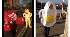 Fancy Dress Chicken and Egg.