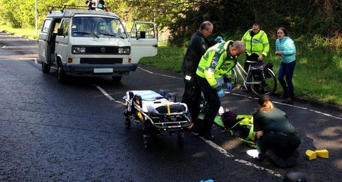 scene of cycle accident in Poole