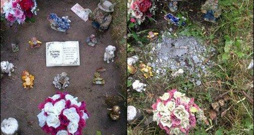 Norwich Grave Trashed