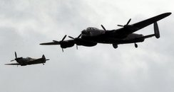 A Spitfire and a Lancaster Bomber