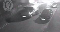 getaway van dragging police man