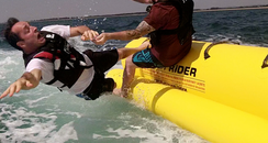 Tom Comes Off Of Banana Boat