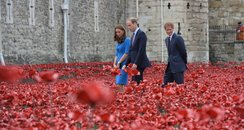 Prince William and Kate plant ceramic poppies