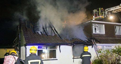 Waterlooville bungalow fire man dies
