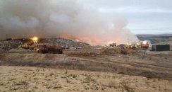 Wareham landfill fire