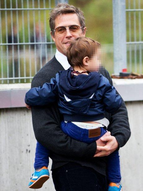 Hugh Grant with son