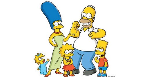 sky, the simpsons