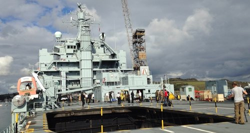 Onboard RFA Argus in Falmouth