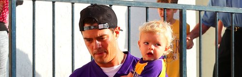 Josh Duhamel with son Axl