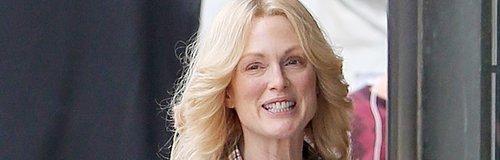 Julianne Moore Blonde Hair On Set Filming Freeheld