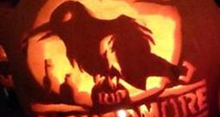 crow pumpkin carving