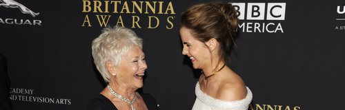 Judi Dench and Emma Watson laughing