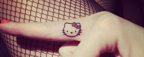 Katy Perry's Hello Kitty tattoo