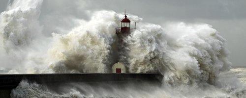 storm sea lighthouse