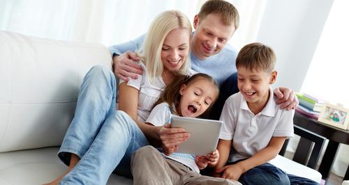 Family on iPad