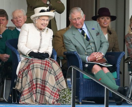 Queen Elizabeth II and the Prince of Wales talking