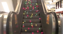 Balls on Escalator