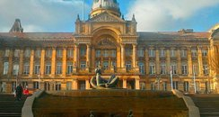 Birmingham Council House Statue and fountain
