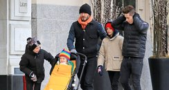 David Beckham and Kids in New York