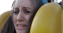 Nicola Gets Suspended On Brighton Pier Ride