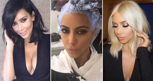 Kim Kardashian - Blonde To Brunette