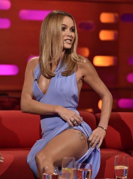 Amanda Holden Simon Cowell Fake Leg Tattoo