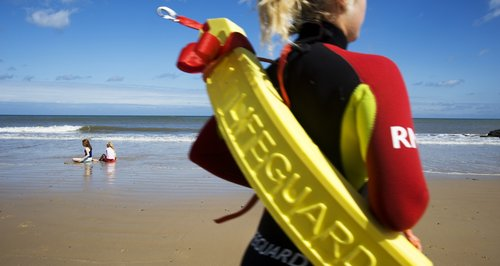 RNLI lifeguard patrol