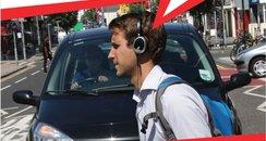brighton poster headphones