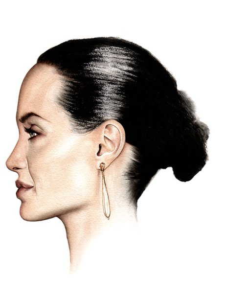 Angelina Jolie in Watercolour