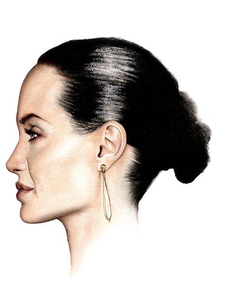 Angelina Jolie in Watercolour