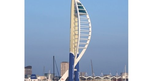 Spinnaker Tower Portsmouth new design blue gold