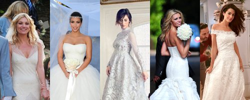 Celebrity Wedding Dresses Canvas